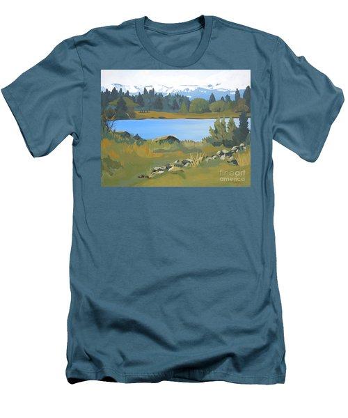 Colorado Mountains Men's T-Shirt (Athletic Fit)