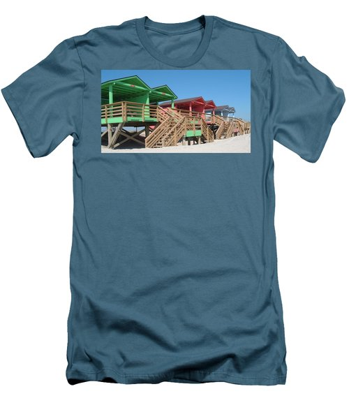 Colorful Cabanas Men's T-Shirt (Athletic Fit)