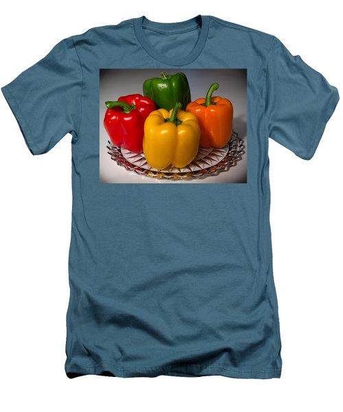 Colorful Platter Men's T-Shirt (Athletic Fit)