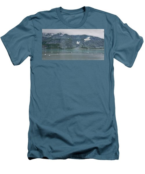 Colors Of Alaska - Glacier Bay Men's T-Shirt (Athletic Fit)