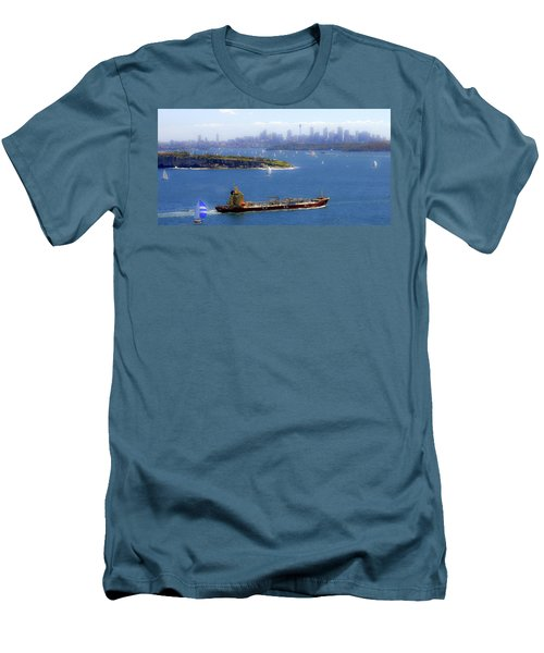 Men's T-Shirt (Slim Fit) featuring the photograph Coming In by Miroslava Jurcik