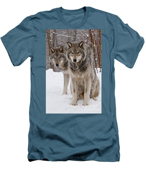 Companions Men's T-Shirt (Slim Fit) by Wolves Only