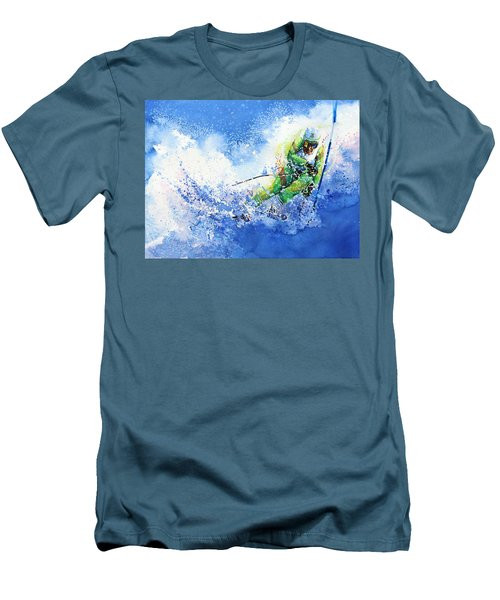 Men's T-Shirt (Athletic Fit) featuring the painting Competitive Edge by Hanne Lore Koehler