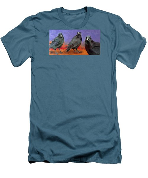 Men's T-Shirt (Slim Fit) featuring the painting Conspiracy by Pattie Wall
