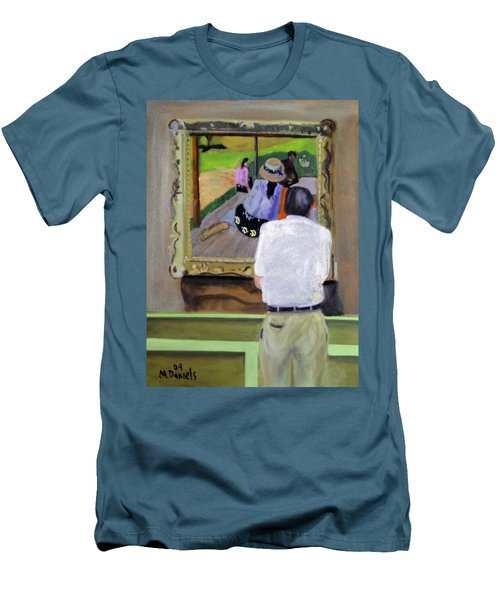 Contemplating Gauguin Men's T-Shirt (Athletic Fit)