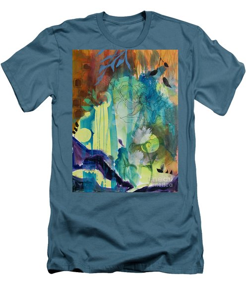 Men's T-Shirt (Slim Fit) featuring the painting Continuum by Robin Maria Pedrero