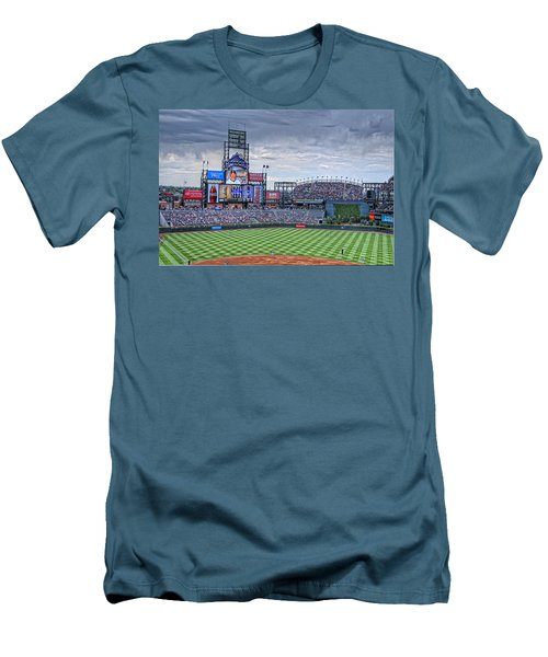 Coors Field Men's T-Shirt (Slim Fit) by Ron White
