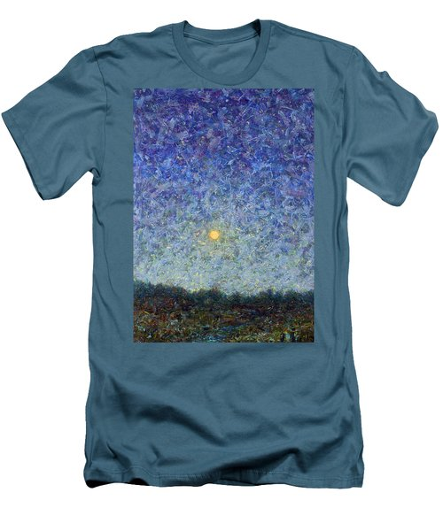 Men's T-Shirt (Slim Fit) featuring the painting Cornbread Moon by James W Johnson