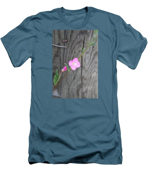 Country Flower  Men's T-Shirt (Slim Fit) by Amy Gallagher