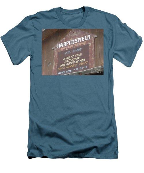 Men's T-Shirt (Slim Fit) featuring the photograph Covered Bridge  by Michael Krek
