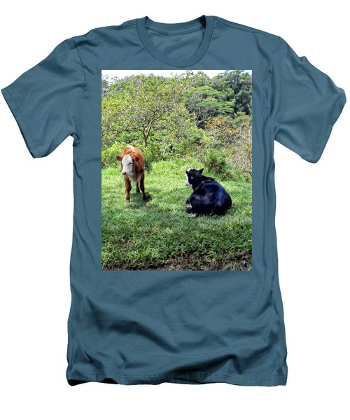 Men's T-Shirt (Slim Fit) featuring the photograph Cow 4 by Dawn Eshelman
