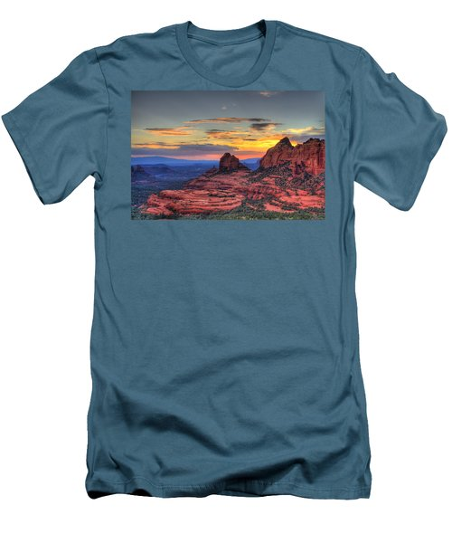 Cow Pies Sunset Men's T-Shirt (Athletic Fit)