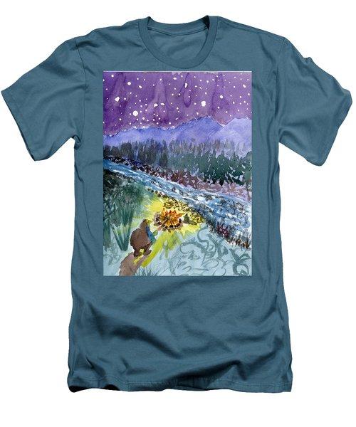 Cowboy Campout Men's T-Shirt (Athletic Fit)