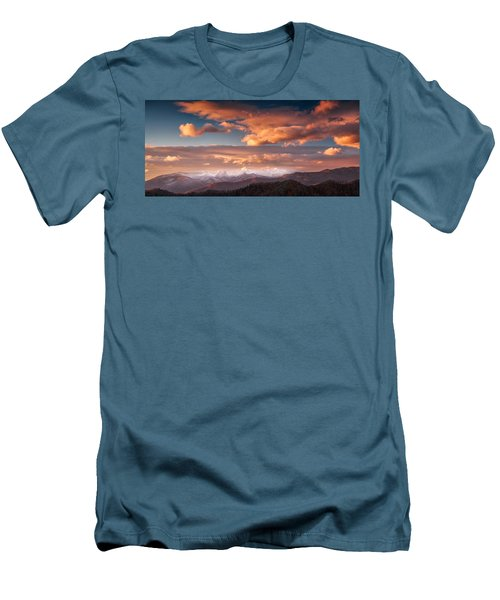 Men's T-Shirt (Athletic Fit) featuring the photograph Craggy Snow by Joye Ardyn Durham