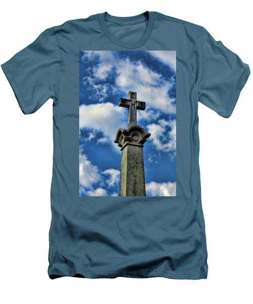 Men's T-Shirt (Slim Fit) featuring the photograph Cross Face 3 by Lesa Fine