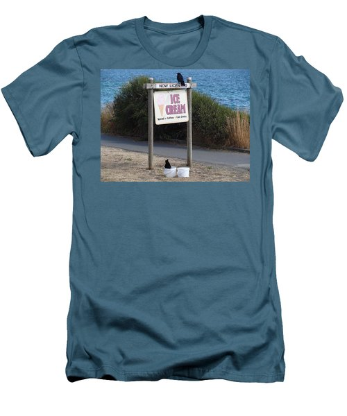 Men's T-Shirt (Slim Fit) featuring the photograph Crow In The Bucket by Cheryl Hoyle