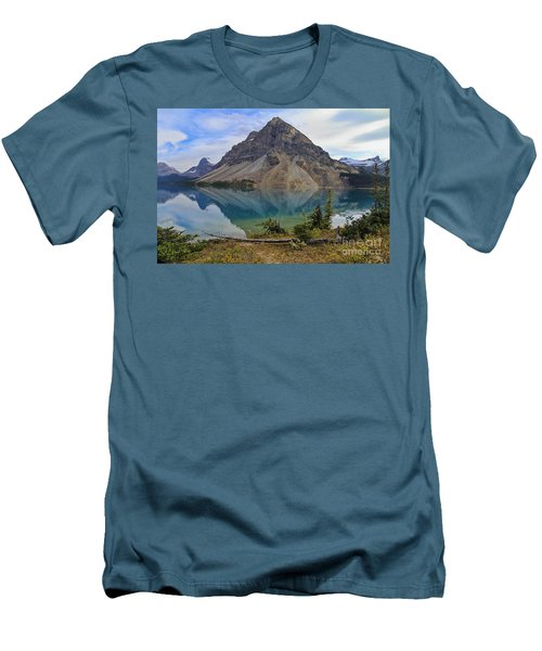 Crowfoot Mountain Banff Np Men's T-Shirt (Athletic Fit)