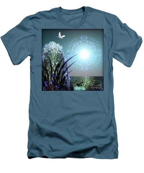 Crystal Breathing Rock Men's T-Shirt (Athletic Fit)