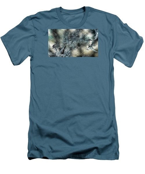 Men's T-Shirt (Slim Fit) featuring the digital art Crystal Heaven by Steven Richardson