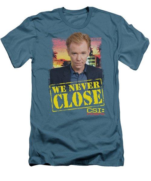 Csi:miami - Never Close Men's T-Shirt (Athletic Fit)
