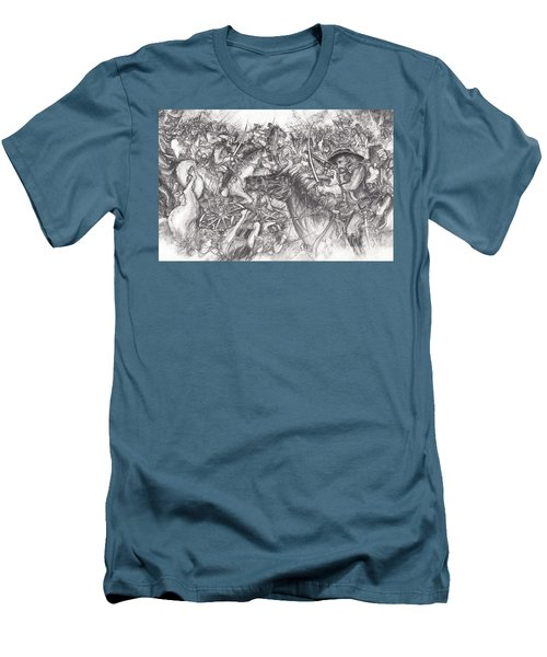Custer's Clash Men's T-Shirt (Athletic Fit)