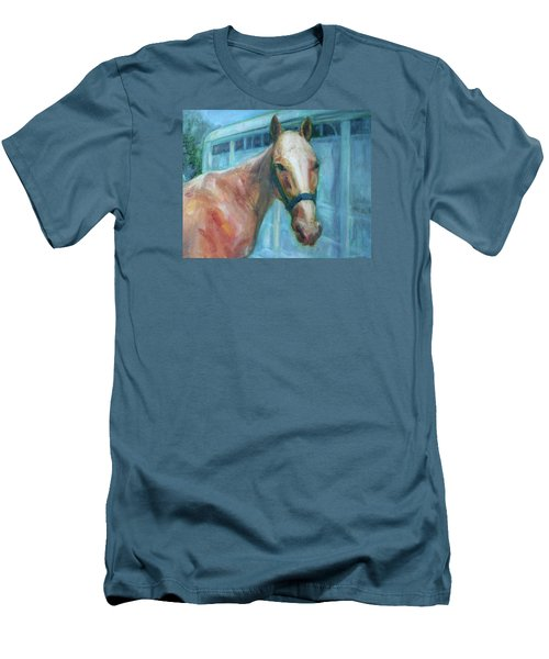 Custom Pet Portrait Painting - Original Artwork -  Horse - Dog - Cat - Bird Men's T-Shirt (Athletic Fit)