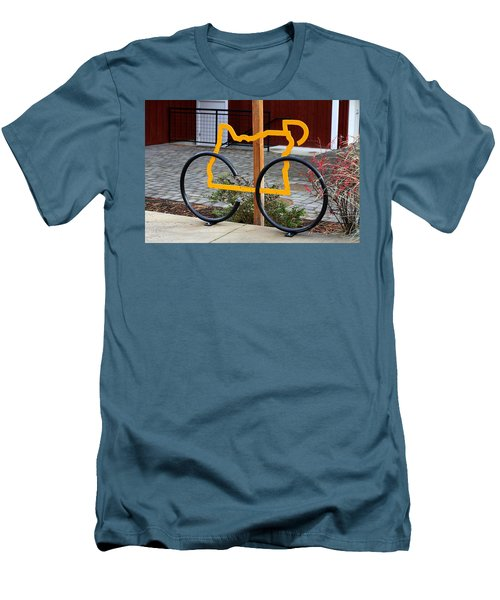 Men's T-Shirt (Slim Fit) featuring the photograph Cycle Oregon by Kevin Desrosiers