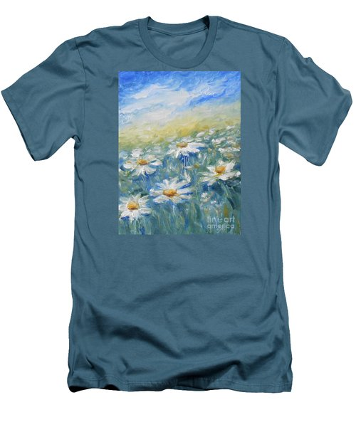 Daisies Men's T-Shirt (Slim Fit) by Jane  See