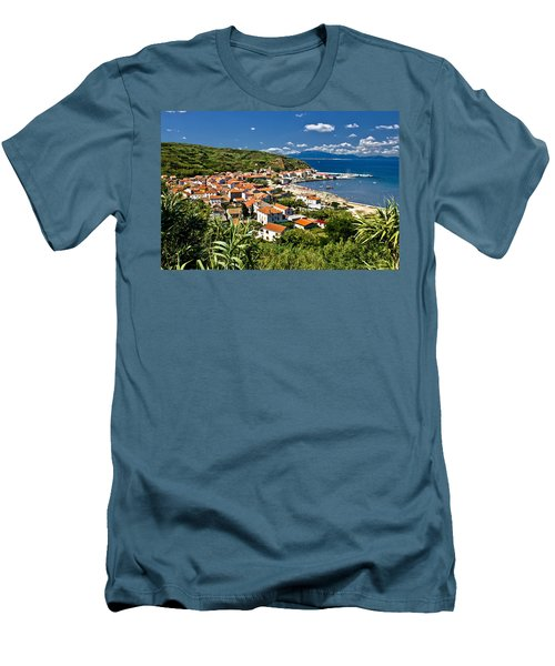 Dalmatian Island Of Susak Village And Harbor Men's T-Shirt (Athletic Fit)