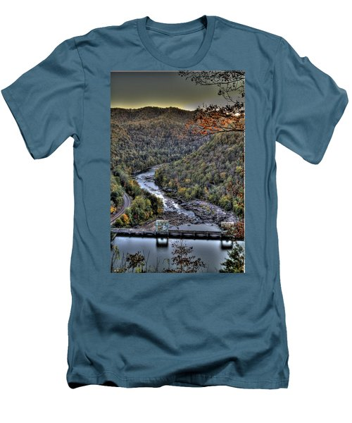 Men's T-Shirt (Slim Fit) featuring the photograph Dam In The Forest by Jonny D
