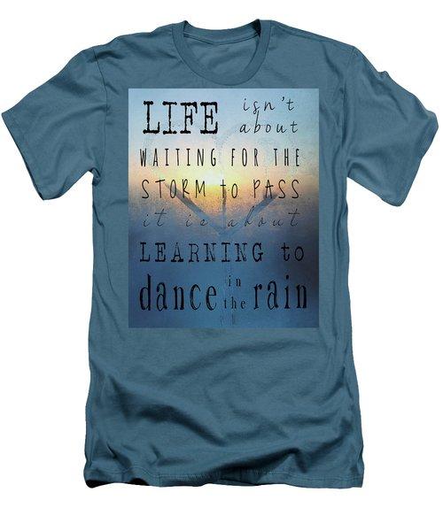 Dance In The Rain  Men's T-Shirt (Athletic Fit)