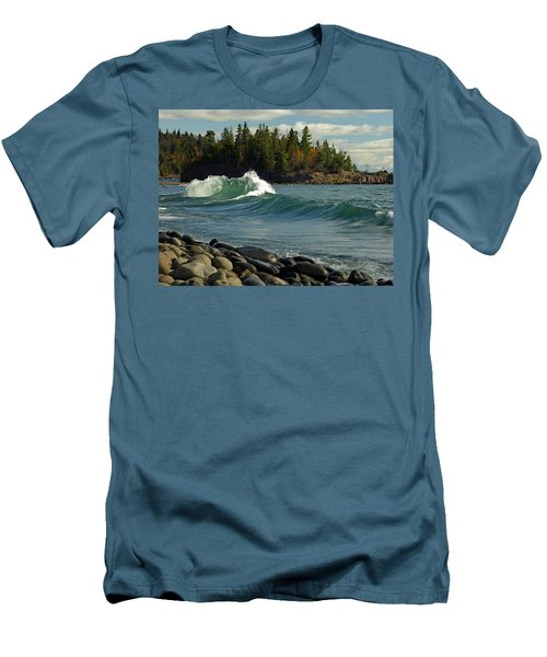 Dancing Waves Men's T-Shirt (Athletic Fit)