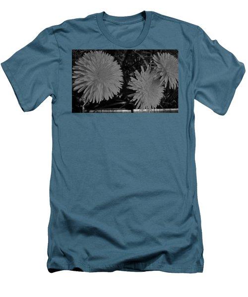 Dandelion Weeds? B/w Men's T-Shirt (Slim Fit) by Martin Howard