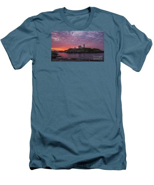 Dawn At The Nubble Men's T-Shirt (Slim Fit) by Steven Ralser