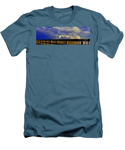 Daytona Beach Fl Bird Sun Glow Pier  Men's T-Shirt (Athletic Fit)