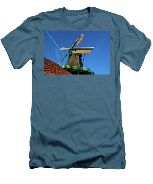Men's T-Shirt (Slim Fit) featuring the photograph De Kat Blue Skies by Jonah  Anderson