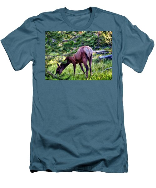 Men's T-Shirt (Slim Fit) featuring the photograph Deer 7 by Dawn Eshelman