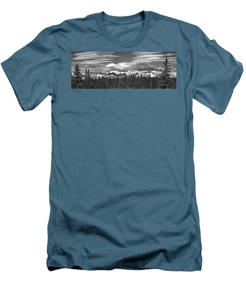 Denali In Clouds Men's T-Shirt (Athletic Fit)