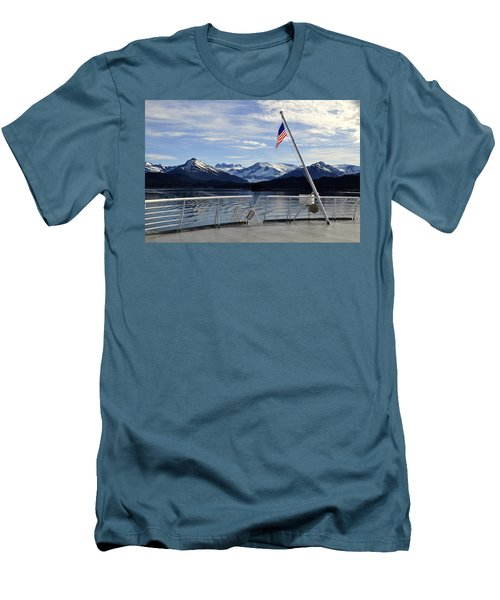 Men's T-Shirt (Slim Fit) featuring the photograph Departing Auke Bay by Cathy Mahnke