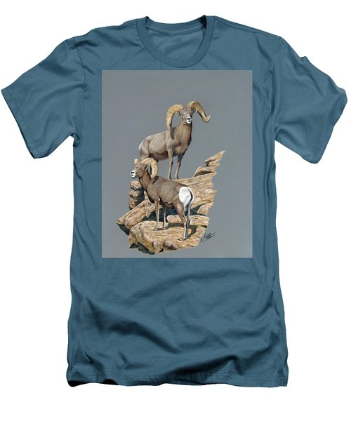 Desert Bighorn Rams Men's T-Shirt (Athletic Fit)