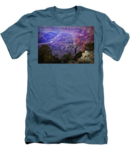 Desert View Sunset Men's T-Shirt (Slim Fit) by Priscilla Burgers