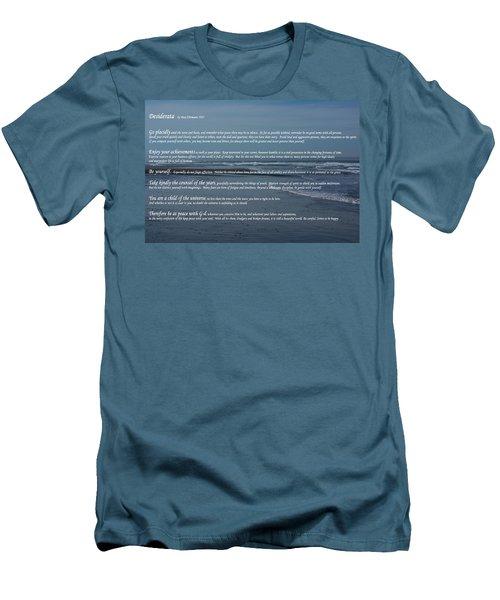 Desiderata  Men's T-Shirt (Slim Fit) by Tikvah's Hope