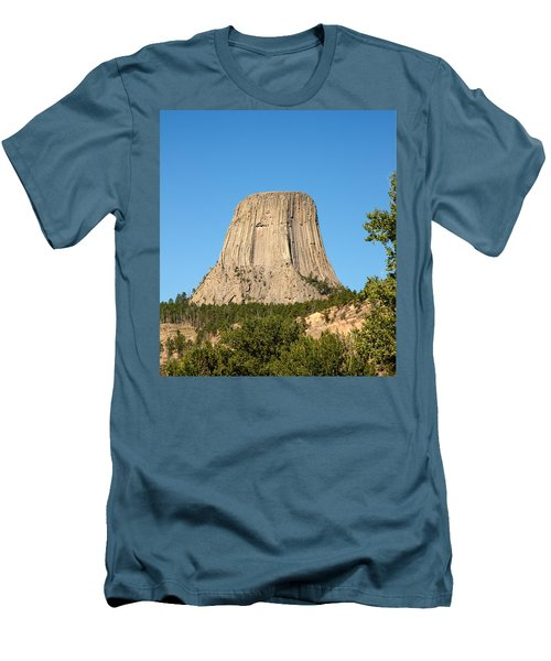 Men's T-Shirt (Slim Fit) featuring the photograph Devils Tower by John M Bailey