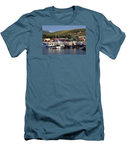 Dingle Harbour County Kerry Ireland Men's T-Shirt (Slim Fit) by Aidan Moran