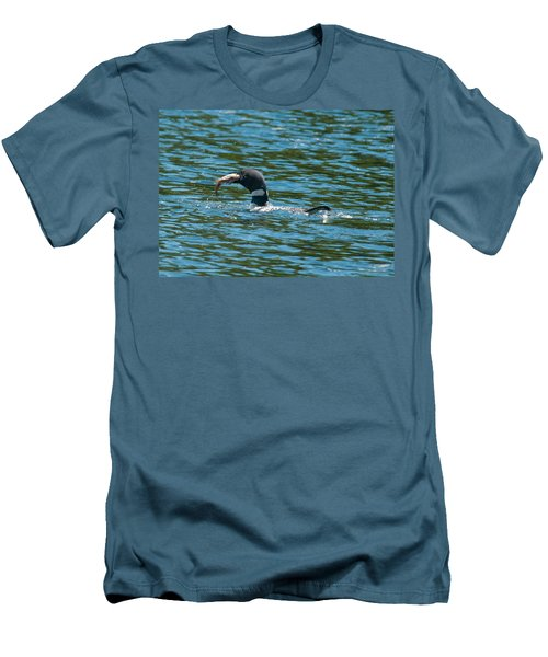 Men's T-Shirt (Slim Fit) featuring the photograph Dinner Time by Brenda Jacobs