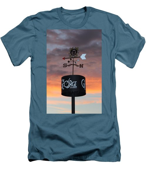 Men's T-Shirt (Slim Fit) featuring the photograph Direction by Cynthia Guinn