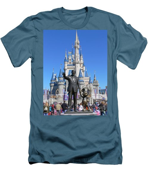 Disney And Mickey Men's T-Shirt (Slim Fit) by Kevin Fortier