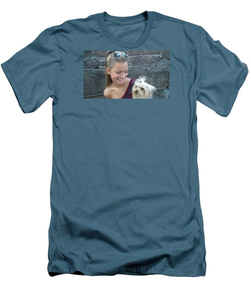 Dog And True Friendship 4 Men's T-Shirt (Athletic Fit)