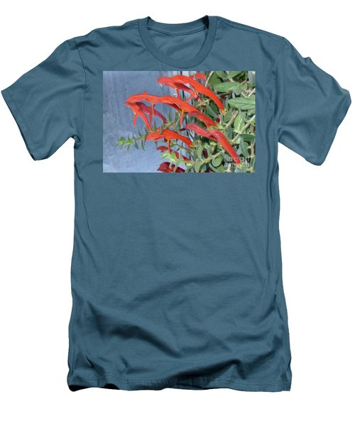 Men's T-Shirt (Slim Fit) featuring the photograph Dolphin Plant by Brenda Brown