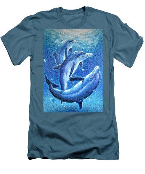 Dolphin Trio Men's T-Shirt (Athletic Fit)